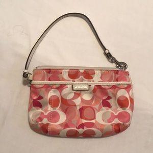 Coach pink wallet purse